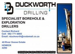 Duckworth Drilling / Drilling Contractor South Africa