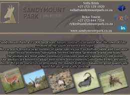SANDY MOUNT PARK GAME BREEDERS | FREE STATE