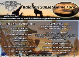 KALAHARI SUNSET GAME FARM