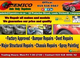 Pemico Auto Body Repairers | Louis Trichardt Limpopo