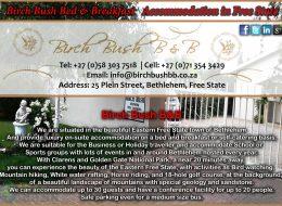Birch Bush Bed & Breakfast    Bethlehem, Free State