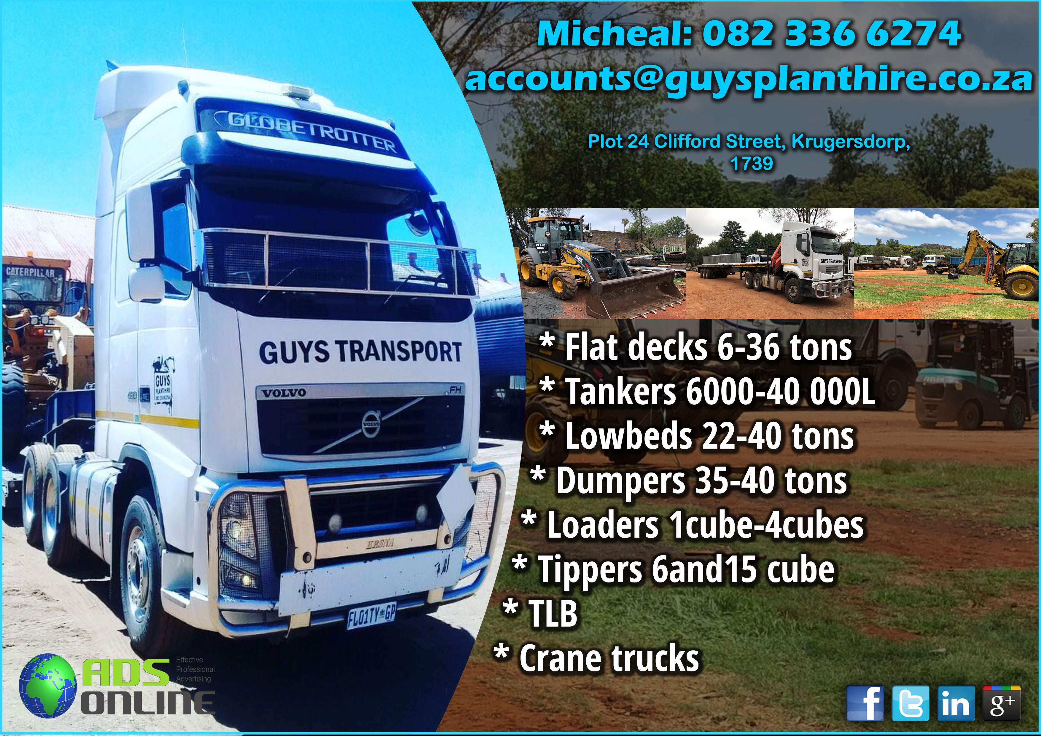 Guy's Transport and Plant Hire | Ads Online Advertising