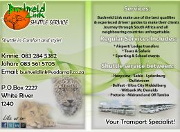 Bushveld Link Shuttle Services | White River