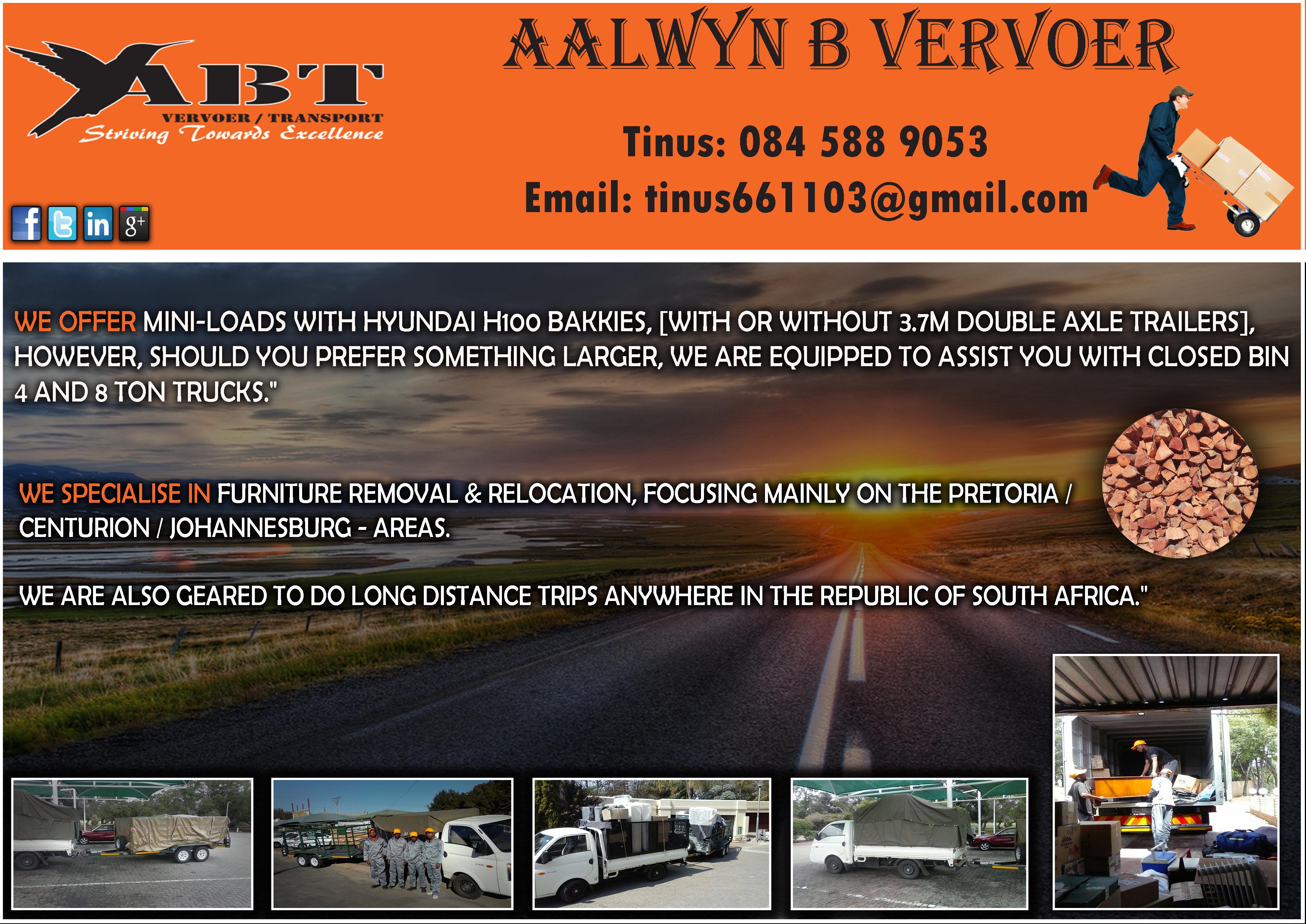 Aalwyn B Vervoer Abt Vervoer Ads Online Advertising