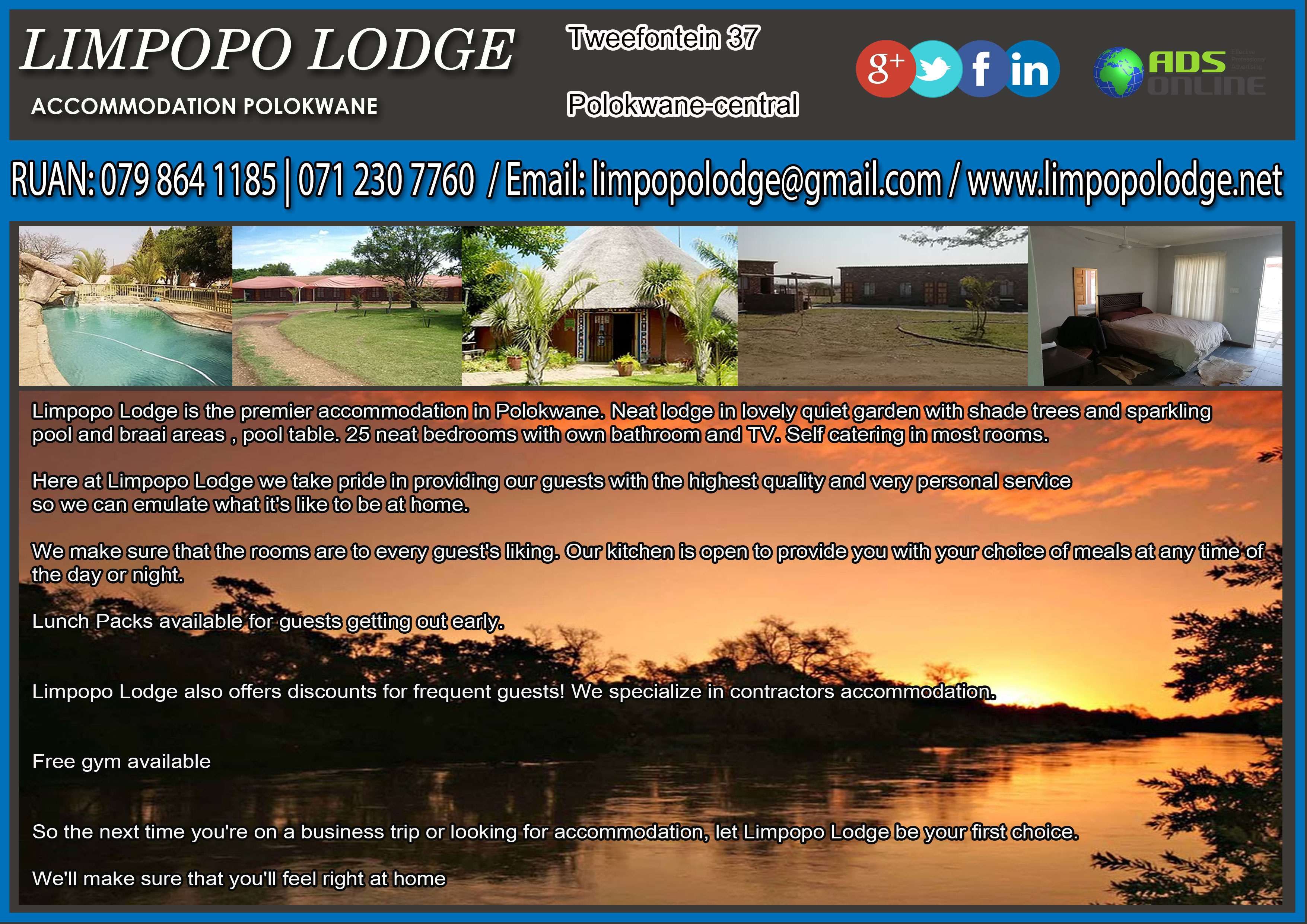 LIMPOPO LODGE  – ACCOMMODATION IN POLOKWANE