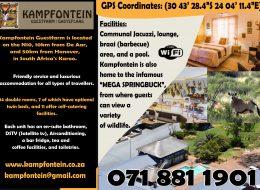 KAMPFONTEIN GUESTFARM / GASTEPLAAS NORTHERN CAPE