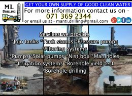 ML Drilling (Pty) Ltd | Mpumalanga – National