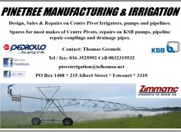 Pinetree Manufacturing & Irrigation | Eastern Free State, Northern Natal, Natal Midlands