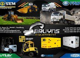 Bruyns Equipment | Sasolburg, Free State