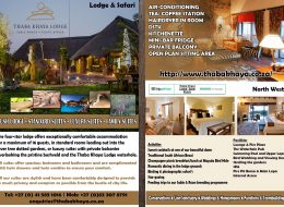 Thaba Khaya Game Lodge • Sable Ranch – North West, South Africa