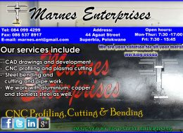 MARNES ENTERPRISES  | STEEL CUTTING AND BENDING – Polokwane, Limpopo