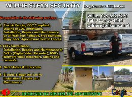 Willie Steyn Comfort & Security Services | Randfontein, Gauteng