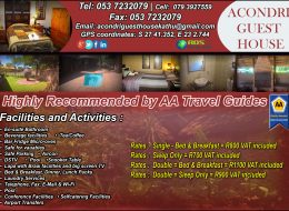 Acondri Guest House | Accommodation Kathu, Guest House Kathu, Northern Cape
