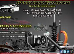 Second Hand Auto Spares | Pretoria, Gauteng