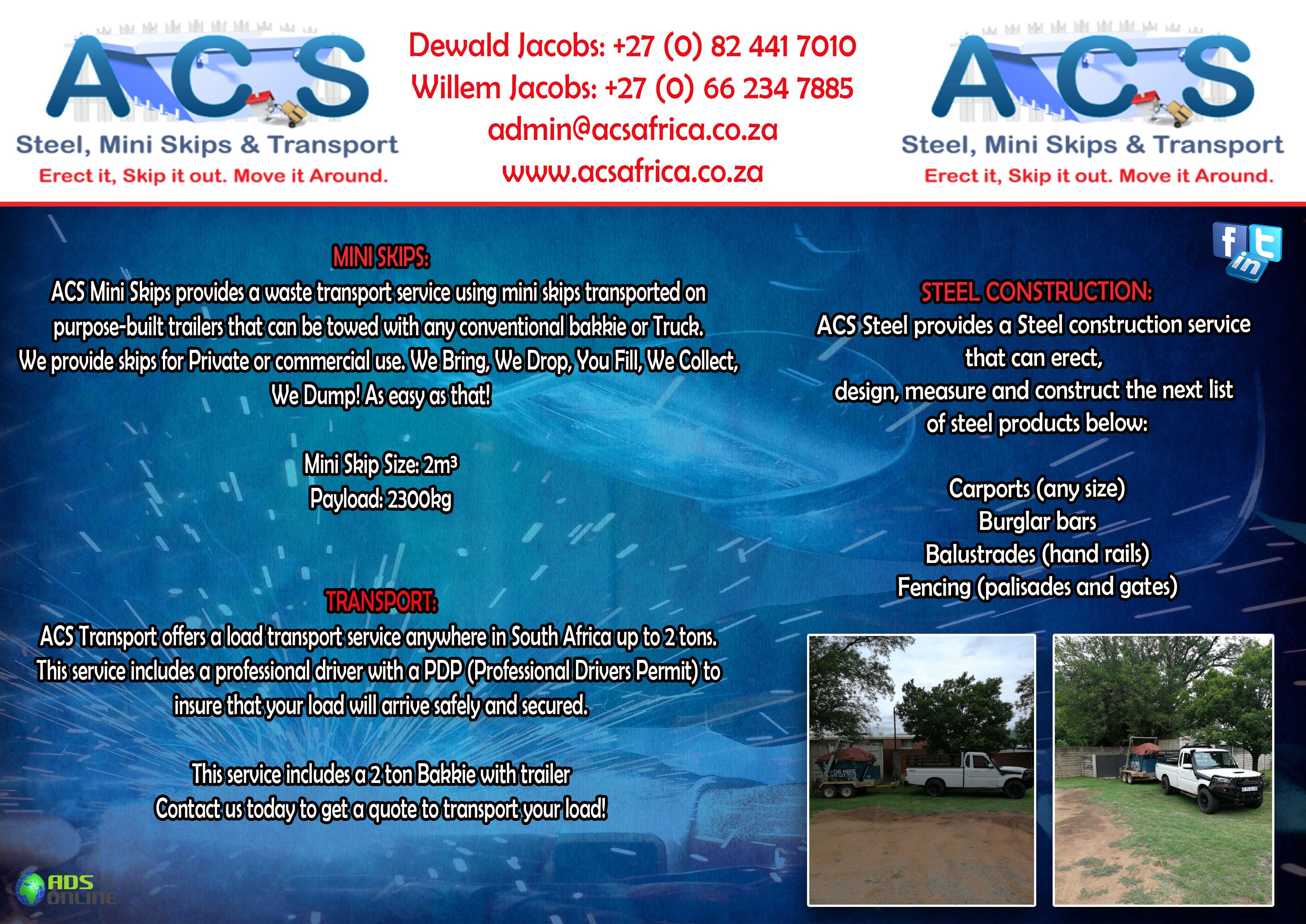 ACS (Steel, Mini Skips & Transport) – Countrywide