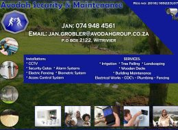 Avodah Security & Maintenance | Security and Maintenance Mpumalanga