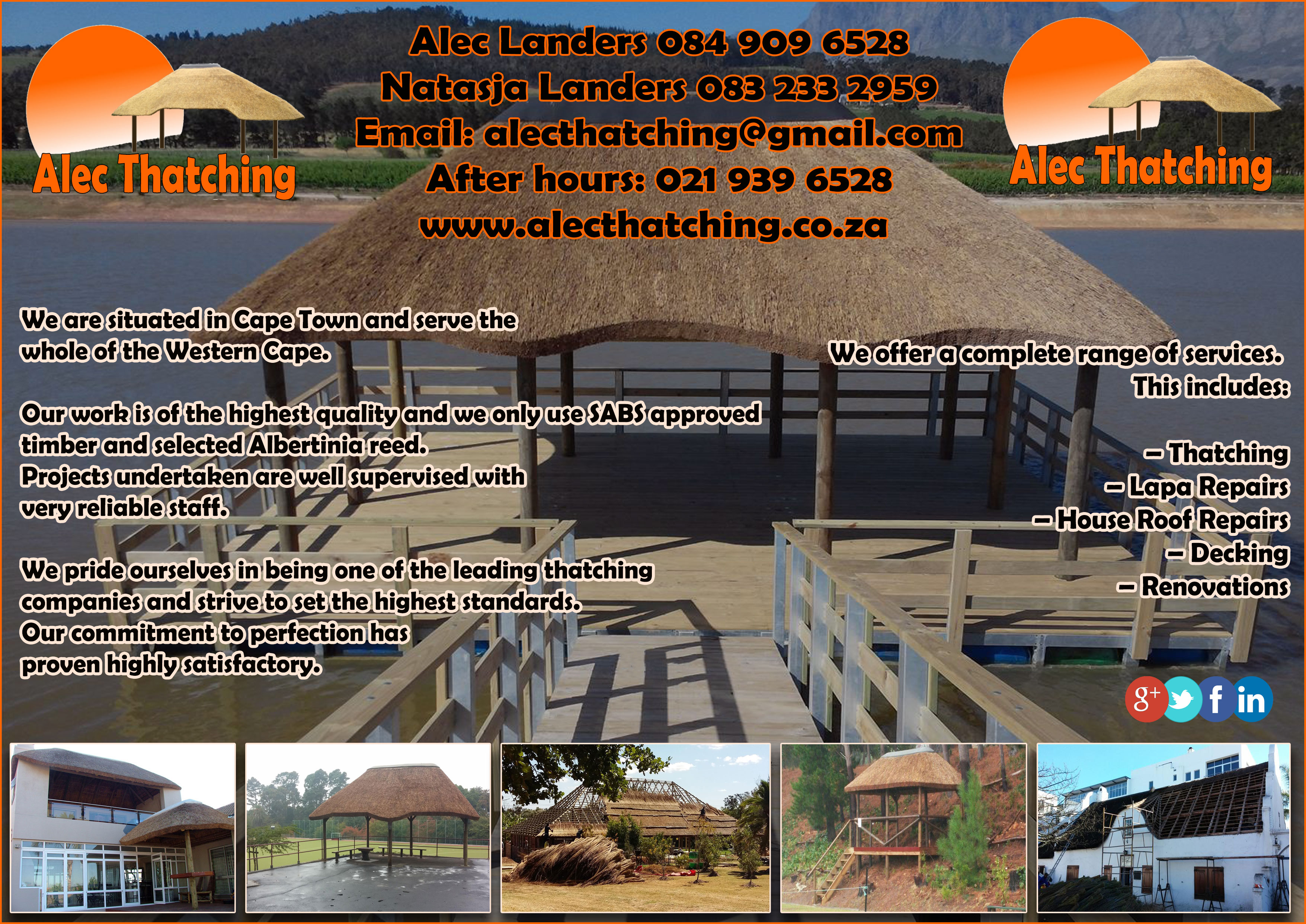Alec Thatching | Panorama, Western Cape, Cape Town
