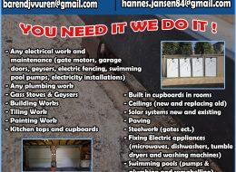 Barend Electrical &  General Maintenance (Pty) Ltd   Gauteng, Northwest, Mpumalanga