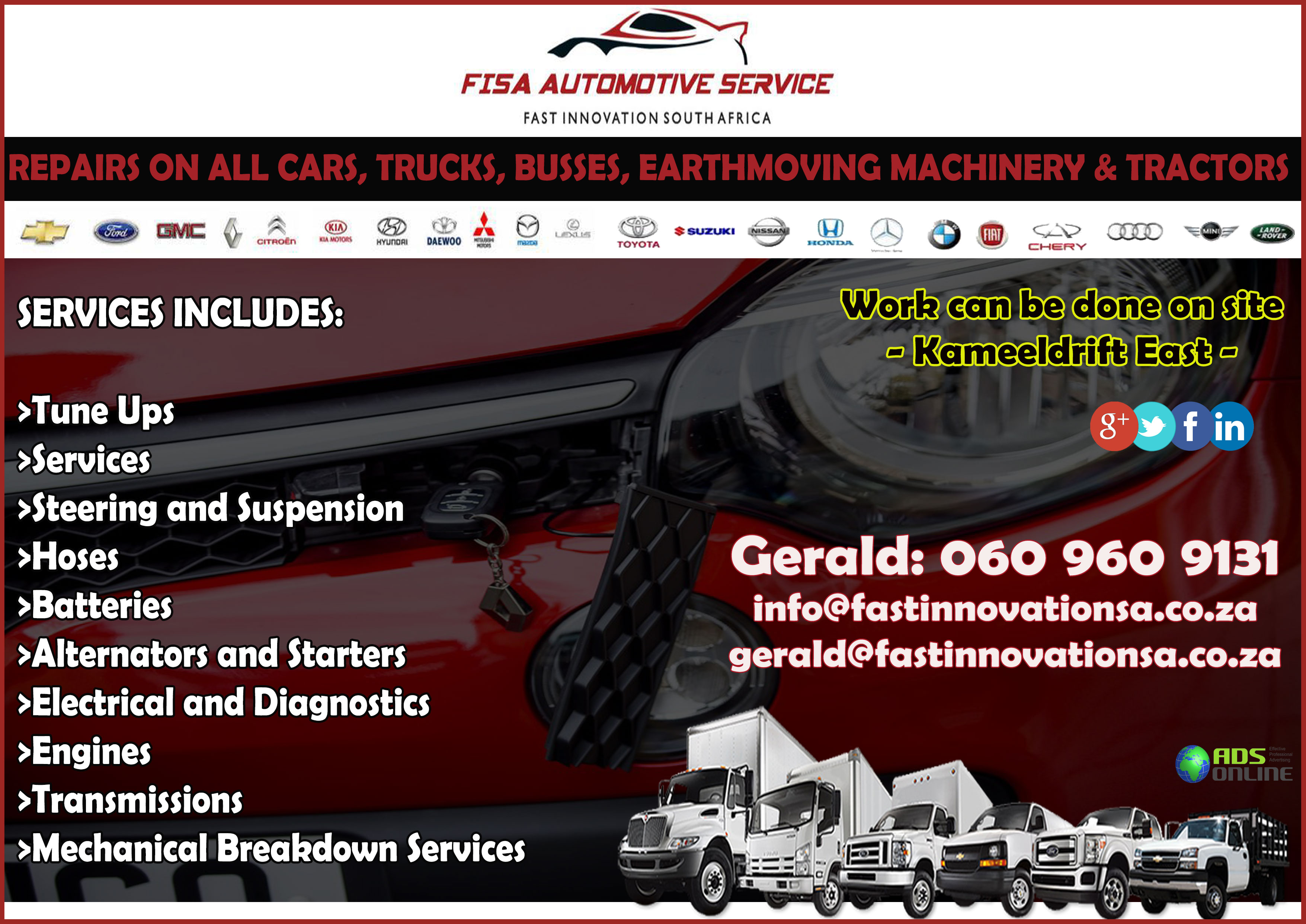 FISA AUTOMOTIVE SERVICE – Kameeldrift East, Pretoria, Gauteng