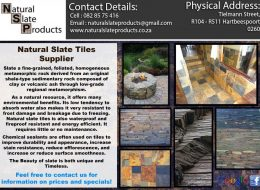 Natural Slate Products Tiles Supplier   National, Gauteng, North West