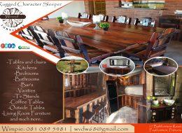 Rugged Character Sleeper Wood Furniture   Pretoria, Gauteng