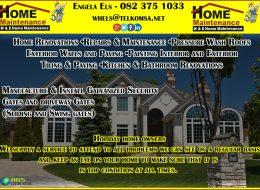 W & E HOME MAINTENANCE   Margate, KwaZulu-Natal, South Coast
