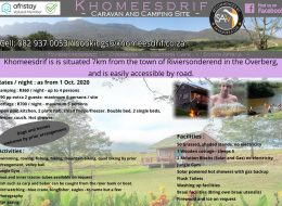 Khomeesdrif – Caravan, Camping & Self Catering Accommodation in Riviersonderend, Overberg, Western Cape
