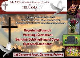 AGAPE Affordable Funerals (Pty) Ltd t/a TELUSMA – Claremont, Pretoria, Gauteng