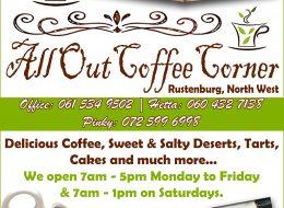 All Out Coffee Corner | Rustenburg, North West