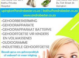 Gehoorpraktyk – Andra Bester Audiologist (B LOG) | Kathu & Upington – Northern Cape