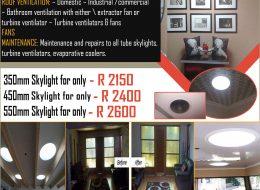 easy SKYLIGHTS & Turbine Ventilators | Pretoria, Gauteng