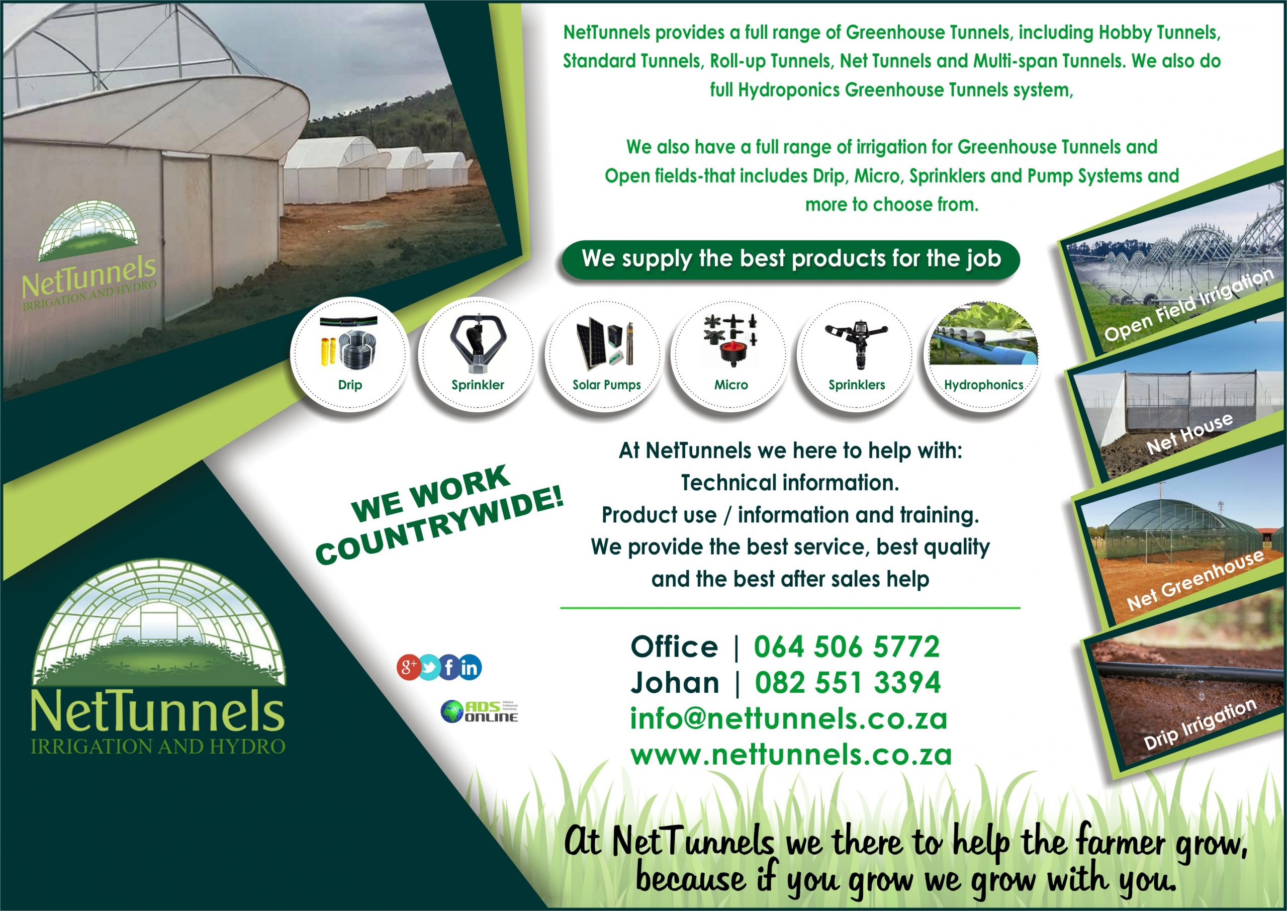 NetTunnels Irrigation and Hydro | Krugersdorp, Gauteng (Countrywide)