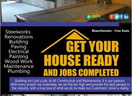 AE CONSTRUCTION AND MAINTENANCE   Bloemfontein – Free State
