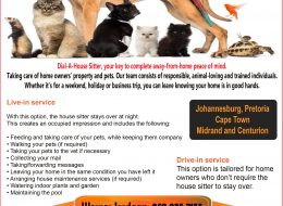 Dial-A-House Sitter | Johannesburg, Pretoria, Cape Town, Midrand and Centurion.