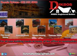 Dikbos – Nhbrc Registered Builder | Upington, Northern Cape