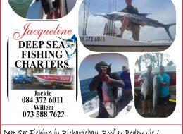 Jacqueline Deep Sea Fishing Charters | Richards Bay, KwaZulu-Natal