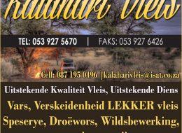 Kalahari Vleis – Slaghuis, Vleismark   Vryburg, North West