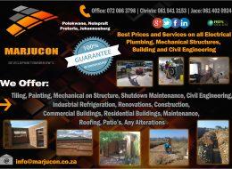 Marjucon | Polokwane, Nelspruit, Pretoria, Johannesburg