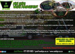 SA SKIPS – Mini Skips Waste Management | Gauteng, South Africa