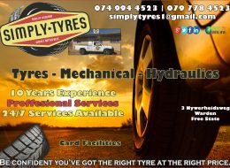 Simply Tyres   Warden, Free State