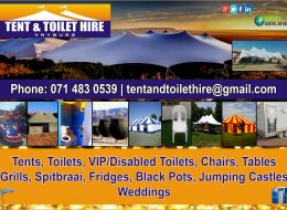 Tent & Toilet Hire   Vryburg, North West