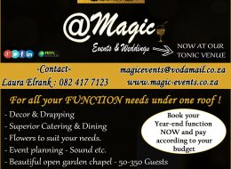 @ Magic Events & Weddings – NOW AT OUR  TONIC VENUE | Bloemfontein, Free State