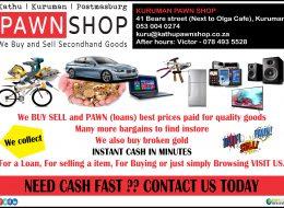Kururman Pawnshop – Buy, Sell and Pawn | Kuruman, Northern Cape