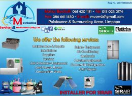 M. Verkoeling Services & Maintenance (Pty) Ltd | Polokwane, Limpopo