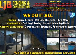 LJB Fencing & Construction | Rietfontein, Pretoria, Gauteng (Countrywide Available)