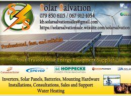 Solar Salvation – Solar Energy Equipment Supplier   Middelburg, Witbank, Mpumalanga