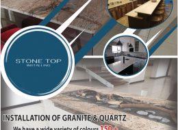 Stone Top Installing – INSTALLATION OF GRANITE & QUARTZ | Witbank, Mpumalanga