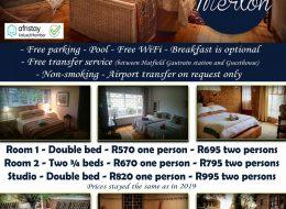 800@ Merton Guest House | Pretoria, Gauteng