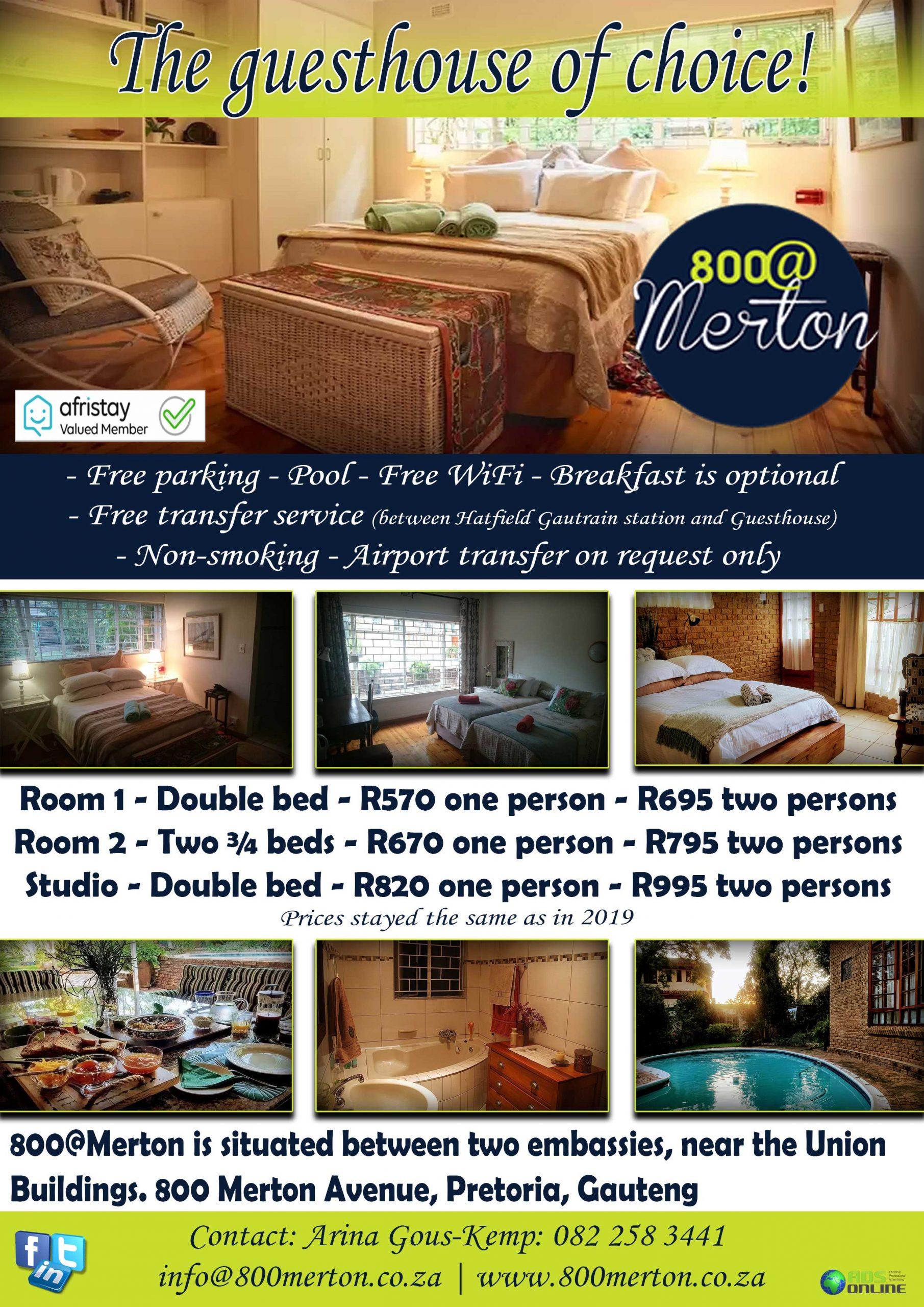800@ Merton Guest House   Pretoria, Gauteng