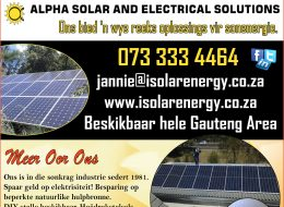 Alpha Solar and Electrical Solutions | Gauteng, South Africa
